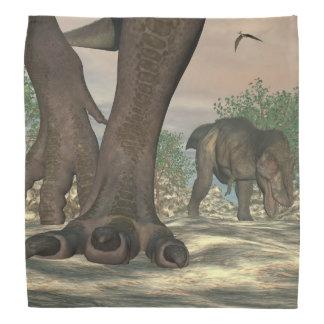 ティラノサウルス・レックスのレックスの恐竜の足- 3Dは描写します バンダナ