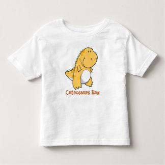 ティラノサウルス・レックスのレックスの恐竜のCuteosaursのTシャツ トドラーTシャツ