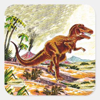 ティラノサウルス・レックスのレックスの恐竜 スクエアシール