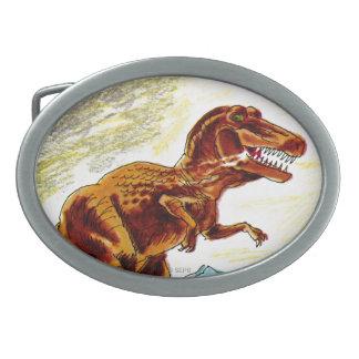 ティラノサウルス・レックスのレックスの恐竜 卵形バックル