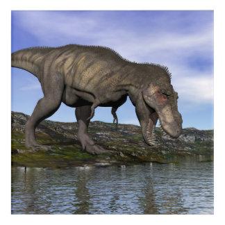 ティラノサウルス・レックスのレックスの恐竜- 3Dは描写します アクリルウォールアート