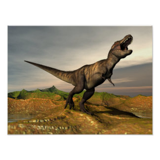 ティラノサウルス・レックスのレックスの恐竜- 3Dは描写します ポスター
