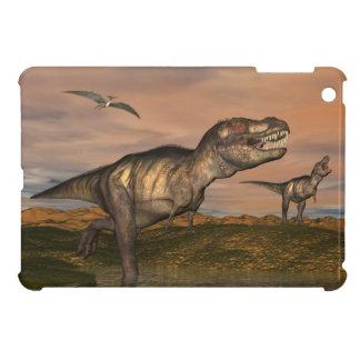ティラノサウルス・レックスのレックスの恐竜- 3Dは描写します iPad MINI CASE