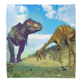 ティラノサウルス・レックスのレックスの意外なgallimimusの恐竜 バンダナ