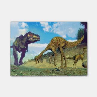 ティラノサウルス・レックスのレックスの意外なgallimimusの恐竜 ポストイット