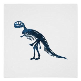 ティラノサウルス・レックスのレックスの骨組 ポスター