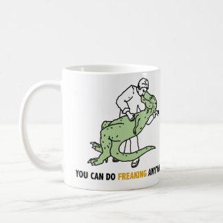 ティラノサウルス・レックスのレックスTのレックスの感動的な引用文のマグ コーヒーマグカップ
