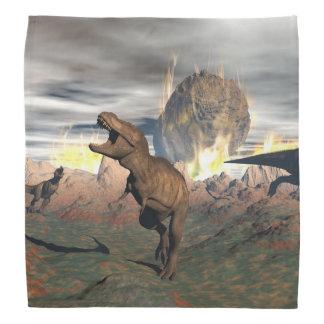 ティラノサウルス・レックスの恐竜のexctinction - 3Dは描写します バンダナ