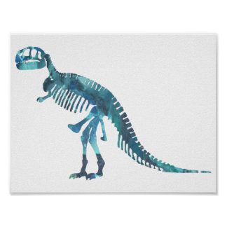 ティラノサウルス・レックスの骨組 ポスター