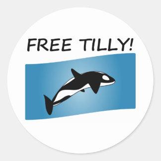 ティリーの自由なステッカー ラウンドシール