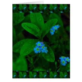 ティリーの軽い花: 深緑色の葉ショー ビッググリーティーングカード