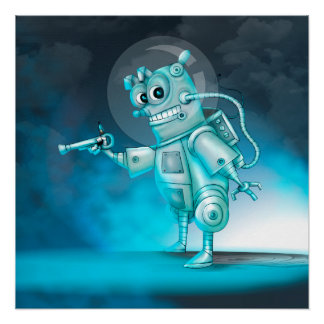 ティルデのロボットかわいい漫画の完全なポスター ポスター