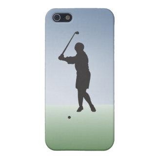 ティーによって撃たれるメスのゴルファー iPhone SE/5/5sケース