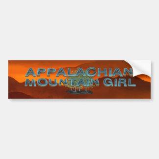 ティーのアパラチア山脈の女の子 バンパーステッカー