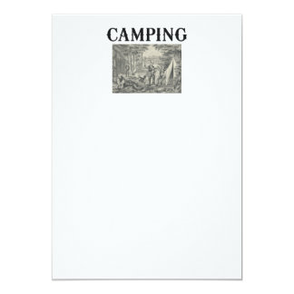 ティーのキャンプの古い学校 カード