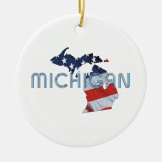 ティーのミシガン州の愛国者 セラミックオーナメント