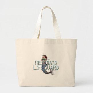 ティーの人魚のライフガード ラージトートバッグ