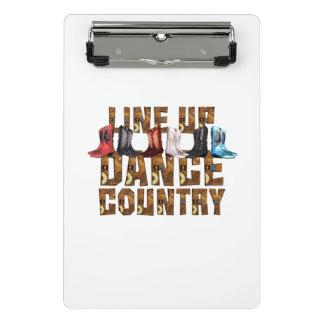 ティーの国のラインダンス ミニクリップボード