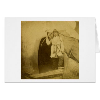 ティーの小便による弓を持つスー族のハンター カード