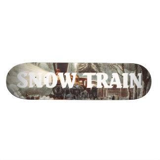 ティーの雪の列車 20CM スケートボードデッキ