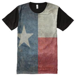 ティーをくまなくテキサス州の州の旗のヴィンテージのレトロのスタイル オールオーバープリントT シャツ