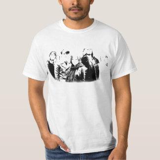 ティーを呼ぶ出国-黒か白 Tシャツ
