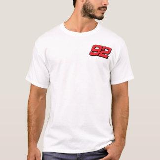 ティーを競争させる前部および背部プリントTDO Tシャツ