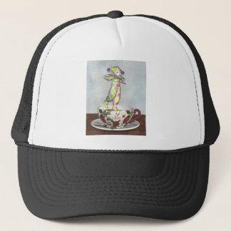 ティーカップでバランスをとるPierrotのピエロの人形 キャップ