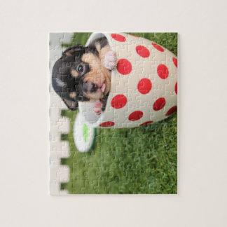 ティーカップのチワワの子犬 ジグソーパズル