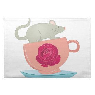 ティーカップのマウス ランチョンマット