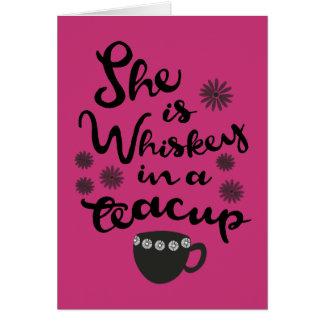 ティーカップのメッセージカードのウィスキー カード