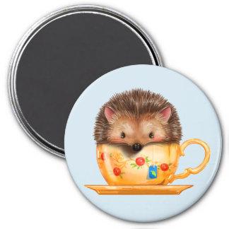 ティーカップの磁石の愛らしいハリネズミ マグネット