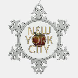 ティーニューヨークシティ スノーフレークピューターオーナメント