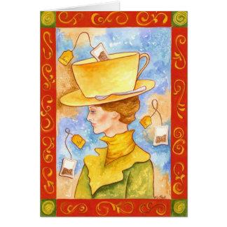 ティーバッグの女性 カード