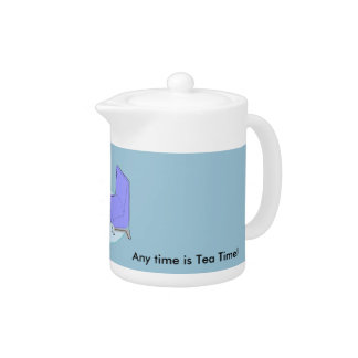 """ティーポットのレトロの居間は""""いつでもです茶時間"""""""