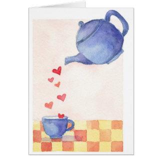 ティーポット愛-メッセージカード カード