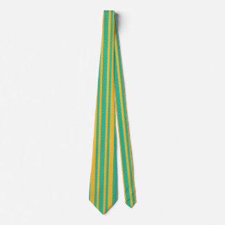 ティール(緑がかった色)および黄色いヘリンボンパターン ネックウェアー