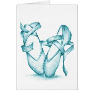 ティール(緑がかった色)のつま先靴 カード