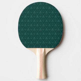 ティール(緑がかった色)のアヤメパターン卓球ラケット 卓球ラケット