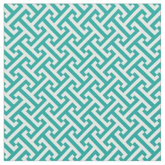 ティール(緑がかった色)のギリシャの主パターン ファブリック