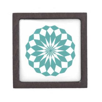 ティール(緑がかった色)のターコイズのギフト用の箱のダイヤモンドの曼荼羅 ギフトボックス