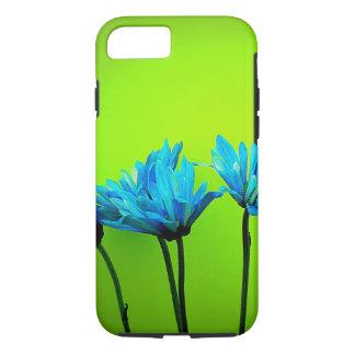 ティール(緑がかった色)のターコイズのデイジーのライムグリーンのiPhone 7の場合 iPhone 8/7ケース