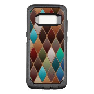 ティール(緑がかった色)のダイヤモンドのモザイク オッターボックスコミューターSamsung GALAXY S8 ケース