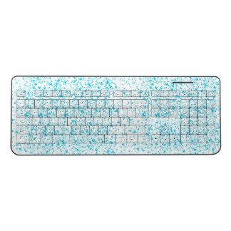 ティール(緑がかった色)のダルマチア人のキーボード ワイヤレスキーボード
