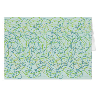 ティール(緑がかった色)のティール(緑がかった色)、金ゴールドおよび緑のオーガニックな形 カード