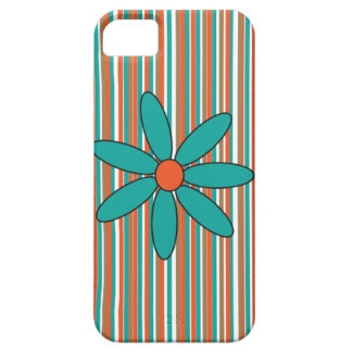 ティール(緑がかった色)のデイジーの電話箱 iPhone SE/5/5s ケース