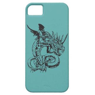 ティール(緑がかった色)のドラゴン iPhone SE/5/5s ケース