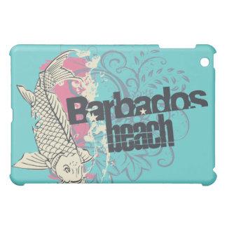 ティール(緑がかった色)のバルバドスのビーチ iPad MINI CASE