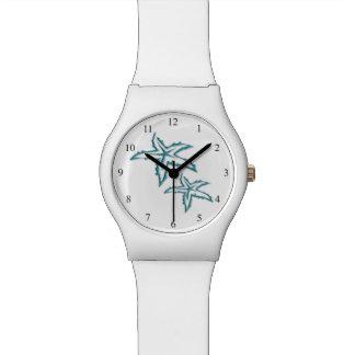 ティール(緑がかった色)のヒトデ 腕時計