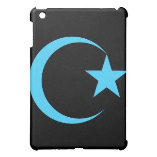 ティール(緑がかった色)の三日月及びStar.png iPad Mini カバー